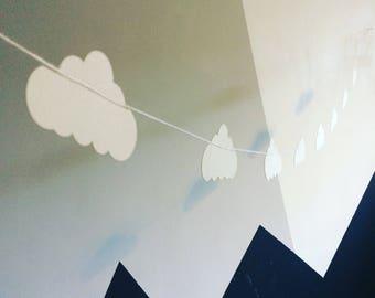 Paper Garland    Cloud    Handmade Garland