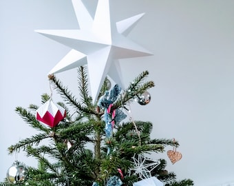 3D Paper Star Decoration    Christmas Tree Star    Tree topper    Paper Star