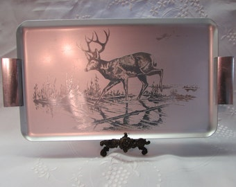 White Tailed Deer 6 Shot Glasses In Wooden Tray Hunting Gift