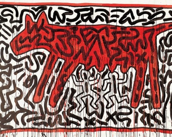 Collection of 10 unpublished prints-Keith Haring