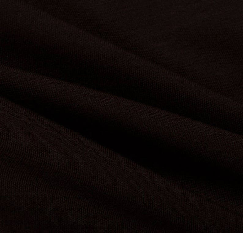 100/% Wool Interlock Brown Home Material Fashion Upholstery Vintage Design Clothing Warm Winter Dress Jumper Textile Fabric Sample Available