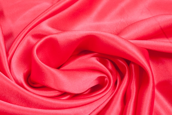 Polyester Satin Fabric Hot Pink Fabric Upholstery Fabric Meter Fabric Apparel Fabric Bridal Fabric Fashion Fabric Clothing Craft Supplies