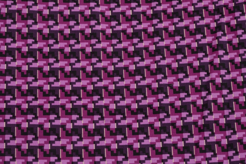 Cotton Fabric Dog Tooth print Fabric Purple Fabric By The Meter Fabric Apparel Fabric Fashion Fabric Clothing Fabric Craft Supplies