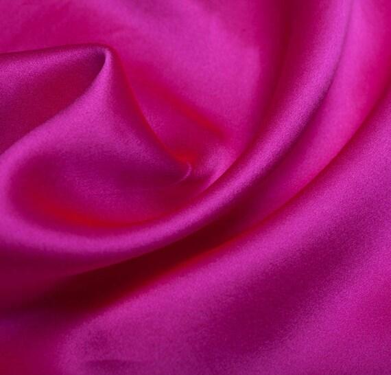 Premium 100/% Silk Smooth Bubble Gum Pink Lining Material Fashion Upholstery Vintage Design Fabric Sample Available