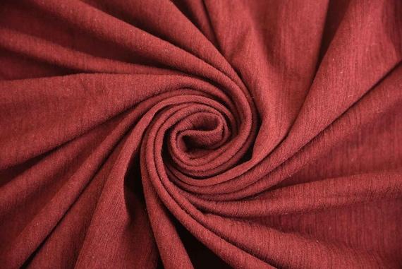 """NEW Designer Crimson Red European 100/% Cotton Crepe Suiting Fabric 52/"""" 133cm"""