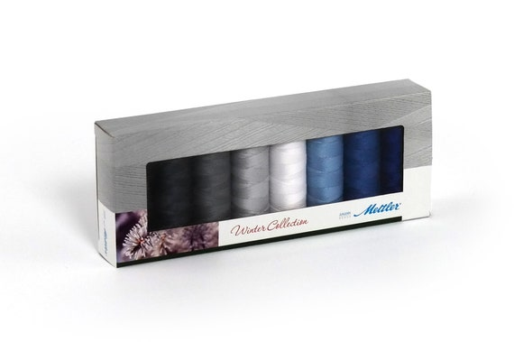 Mettler Spring Collection Sewing Thread 8 x 200m BOX SET Seralon 100/% Polyester