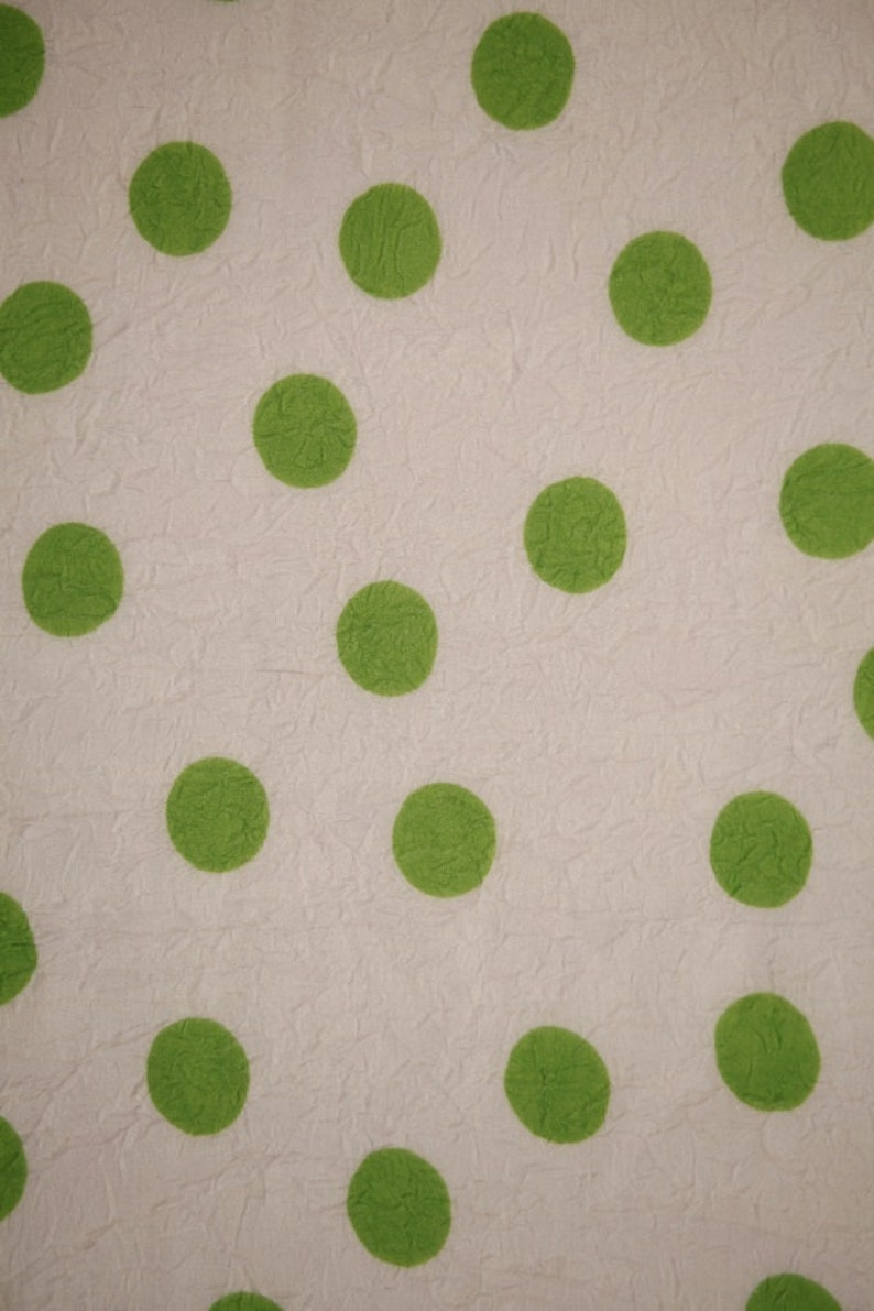 Polyester WhiteGreen Spotted Fabric Multiple Remnants Upholstery Fabric Apparel Fabric Bridal Fabric Fashion