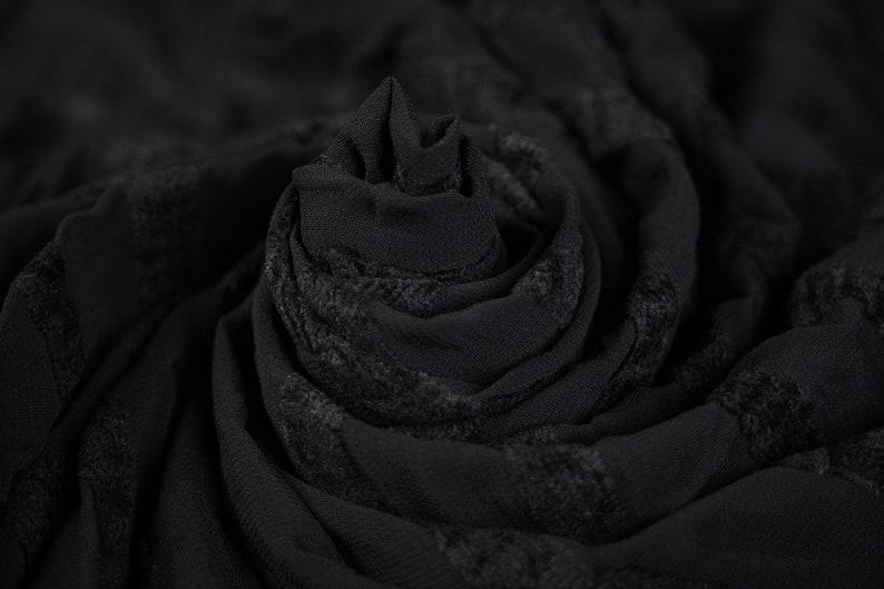 Fabric Floral Fabric Black Fabric Cut off Fabric Fashion Craft Remnant-130cmx140cm Polyester Chiffon Striped Black Fabric