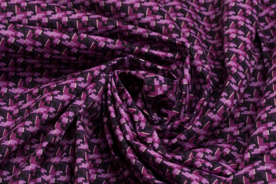 Cotton Fabric Dog Tooth print Fabric Purple Fabric By The  172ca1014