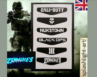 Call of Duty PS4 Controller Light Bar 6x Vinyl Sticker Decal ZOMBIES Black ops Playstation 4