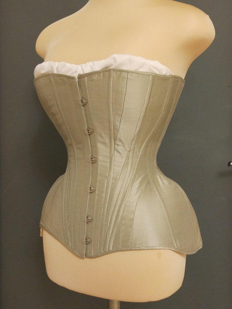 Vintage Lingerie   New Underwear, Bras, Slips Edwardian corset MADE TO MEASURE - 1900 1905 s-bend stays belle epoque $350.00 AT vintagedancer.com