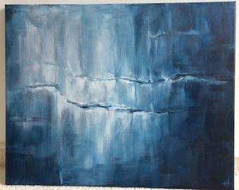 Jotunheim sh painting 40x50 acrylic canvas image acrylic paining ice Nordic mythology water frozen cracks Glacier Glacier Thor Ice Cave