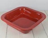 Fiesta SCARLET Red 10.5 quot Square Baker, Fiestaware, Stoneware, Fiesta HLC USA, Casserole Baking Dish, Brownie Pan