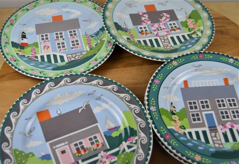 Claire Murray 8 Salad Plates, 1 Lighthouse Windmill 4 Designs Houses 7 Pcs Sakura NANTUCKET Plates, 6 12 Round Chop Platter Charger
