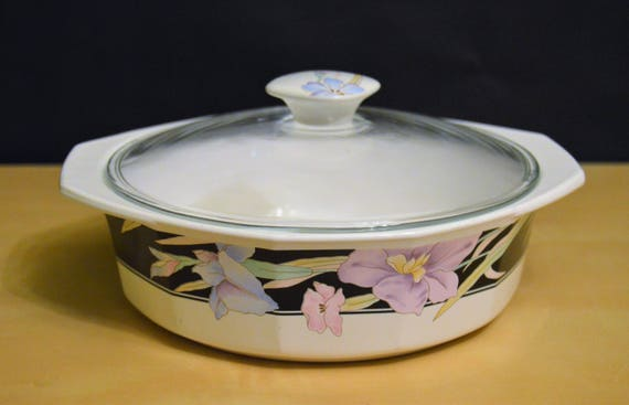 Mikasa CHARISMA BLACK 1.25 Liter Covered Casserole Dish with   Etsy
