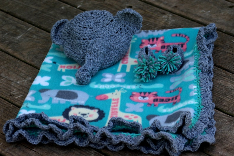 Baby Blanket, Soft Crochet Baby Blanket Set, Elephant Blanket, Blanket  Baby, Stroller Blanket, Crochet Blanket, Crochet Blanket, Zoo Blanket