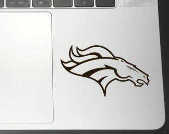 84950b5bf06 DENVER BRONCOS Vinyl Decals Stickers for Car bumper Macbook iPhone iPad