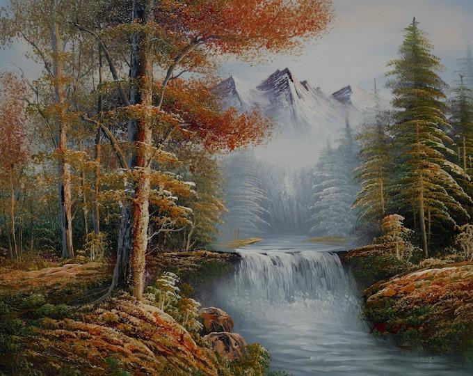 Sierra Sunset Oil Painting Mountain Art Decor Nature Scene