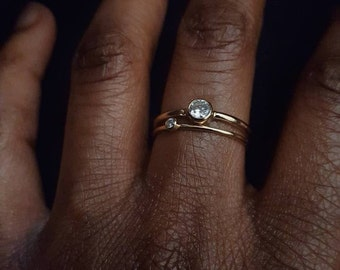 Dainty 4mm gemstone ring,birthday gift birthstone ring,14k gold filled ring or silver gemstone ring,Mothers day gift for women,promise ring