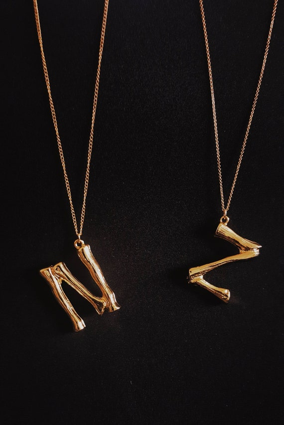 4c51afb857dee Céline inspired necklace,oversize,14k gold fill,monogram initial  necklace,large alphabet initial,Celine letter,monogram necklace,snake chain