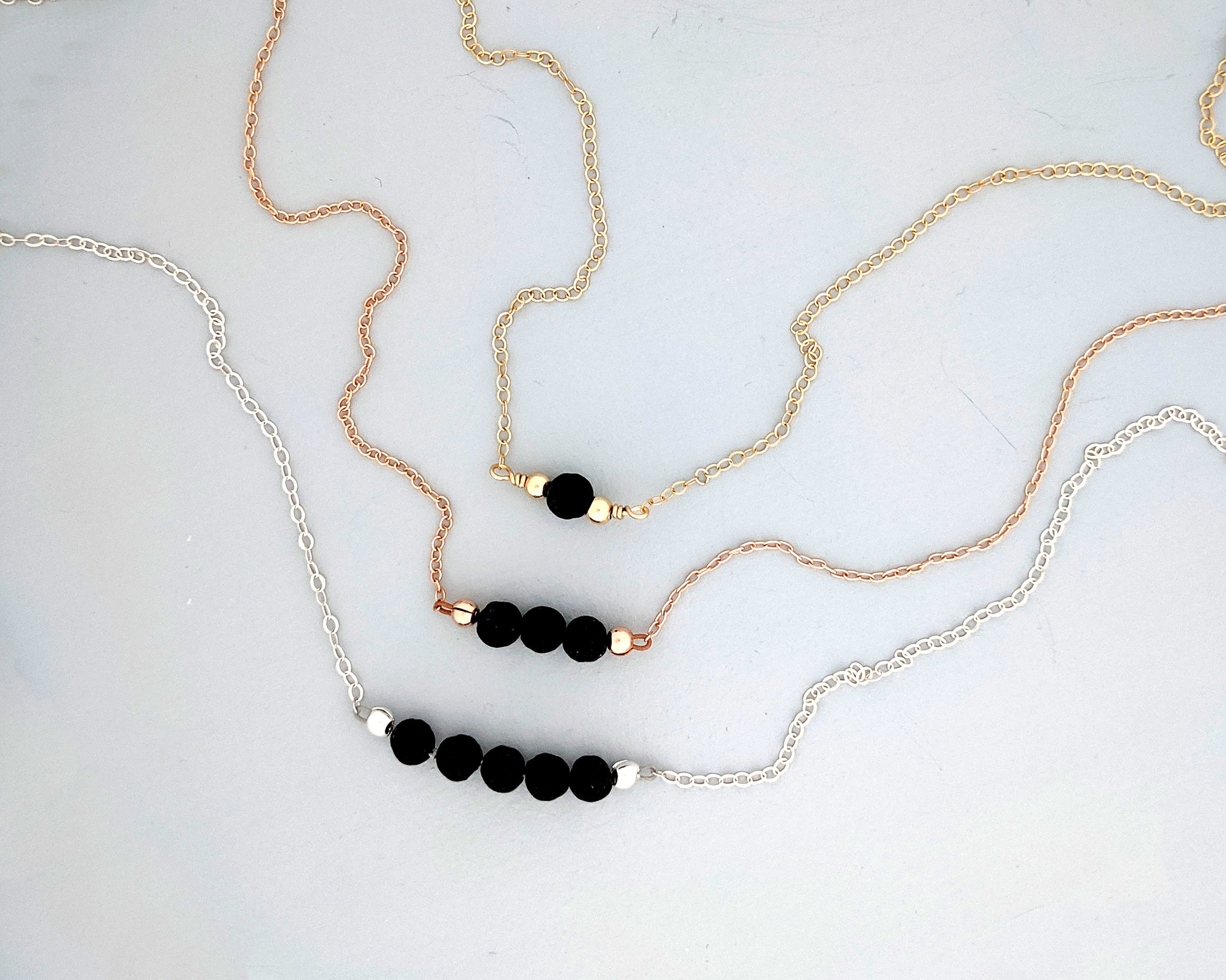Lava Rock Diffuser Necklace by StudioVy