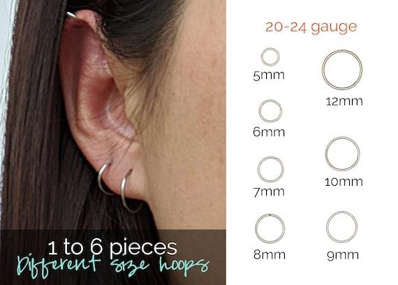 Surgical Steel Hoop Earrings Stainless Small Hoop Earrings Etsy