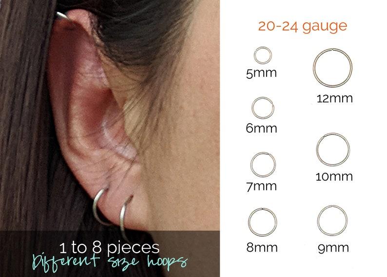 cca391384 Surgical steel hoop earrings Small hoop earrings Huggie hoop | Etsy