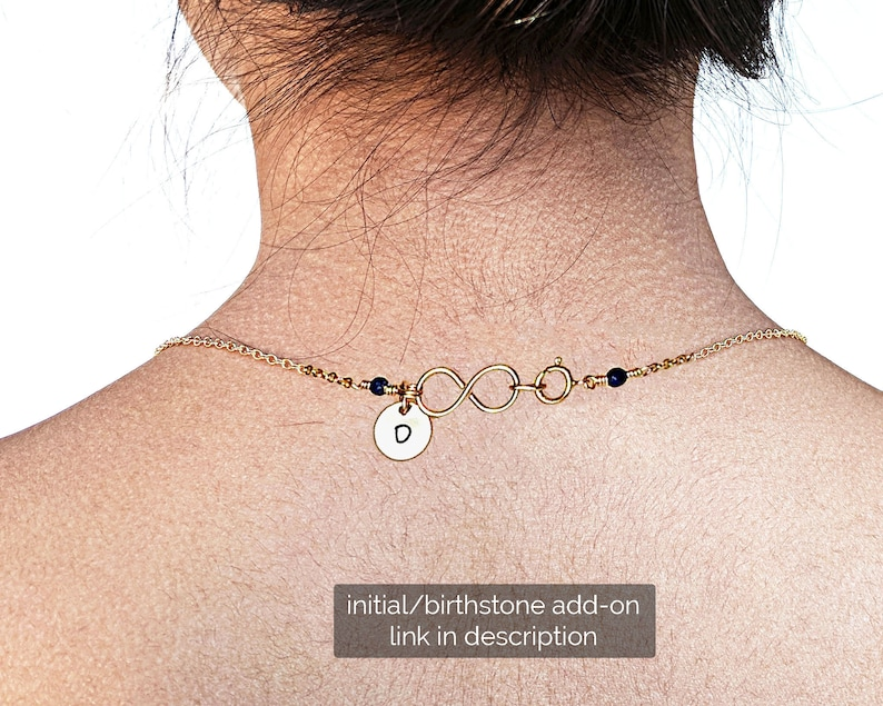 Garnet necklace Morse code necklace Sister necklace January birthstone SilverGold choker Custom NameInitial BFF gift Best friend necklace