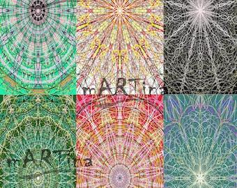 Set of 6 Stroke Digital Prints