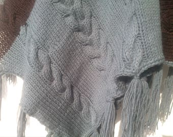hand knitted poncho