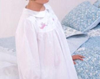 Girls fairy embroidered white cotton nightdress, style TITANIA