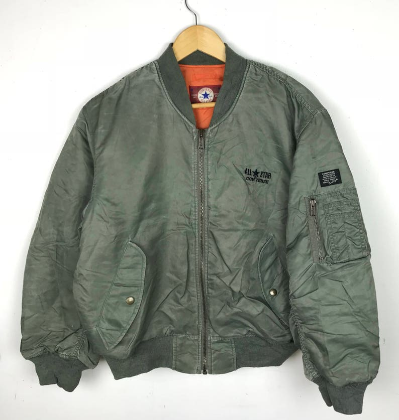 353a5f4233881b SALE Vintage Converse Bomber   Jacket Spellout Small