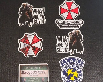 Resident Evil Stickers - RE Stickers - Umbrella Corp