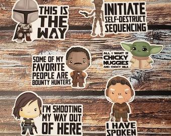Mando - Star Battle Stickers