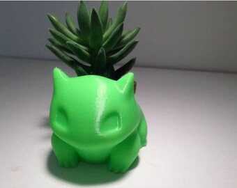 3D Printed Bulbasaur Planter - Large