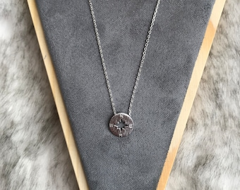 Compass Dainty Necklace