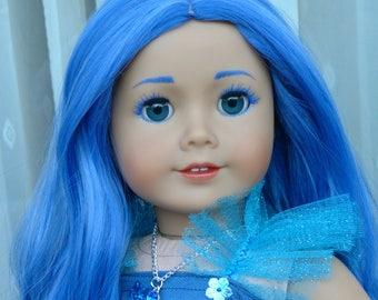 "OOAK Birthstone Princess September Sapphire American Girl 18"" Doll"