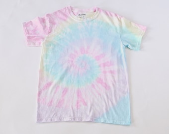 3801e8a8fa Faded Pastel Tie-Dye T-Shirt / Soft Faded Taffy Spiral Tie-Dye Short Sleeve  T-Shirt / Super Faded Tie-Dye / Pastel Tie Dye Tee