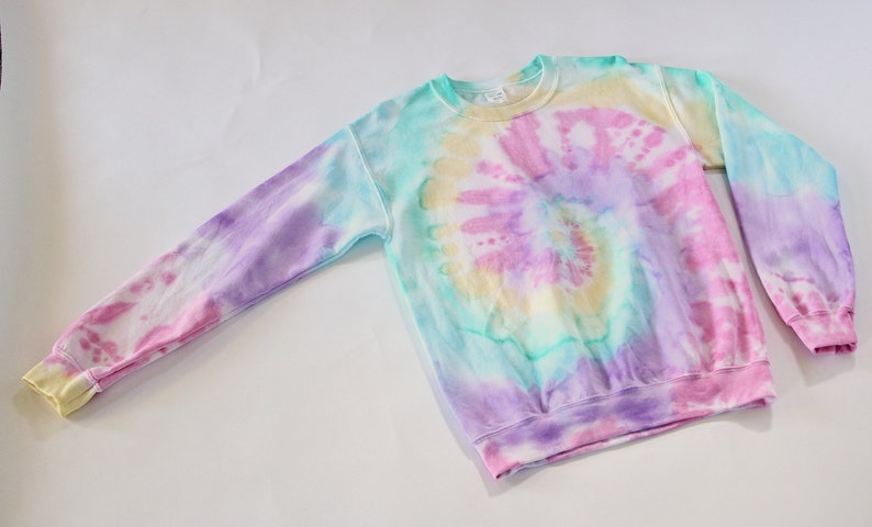 520691cc0d48f Light Pink and Light Purple Tie Dye Sweatshirt / Light Pink Pastel Tie Dye  Crewneck Sweatshirt / Spiral Tie Dye Sweatshirt Long Sleeve