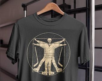 Funny Hockey T Shirt - Vitruvian Hockey Shirt - Hockey Lover Gift - Vintage Hockey Tee - Hockey Gifts