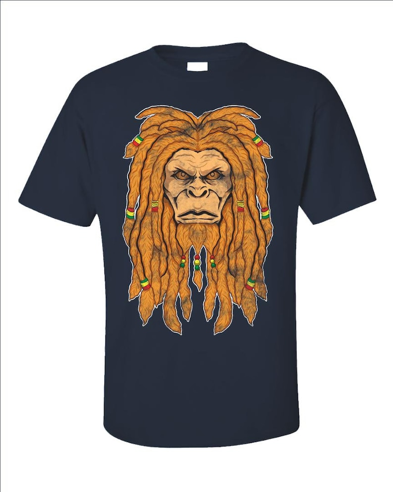 9d4eb230c Bigfoot Shirt Sasquatch Shirt Bigfoot Gifts Rastafarian | Etsy