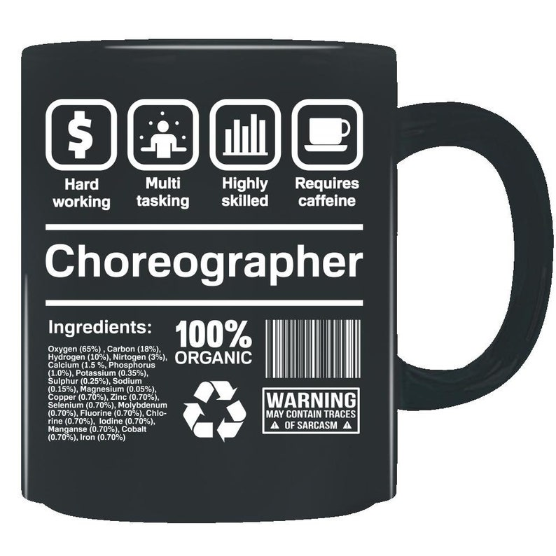 Choreographer Gifts Funny Job Description Mug