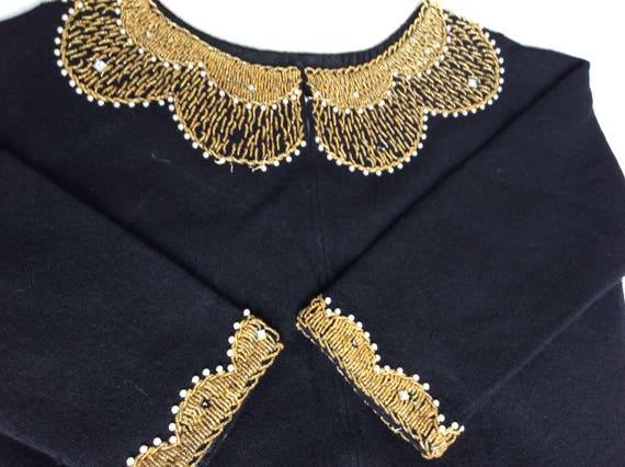 1950s woollen beaded cardigan in stunning conditio