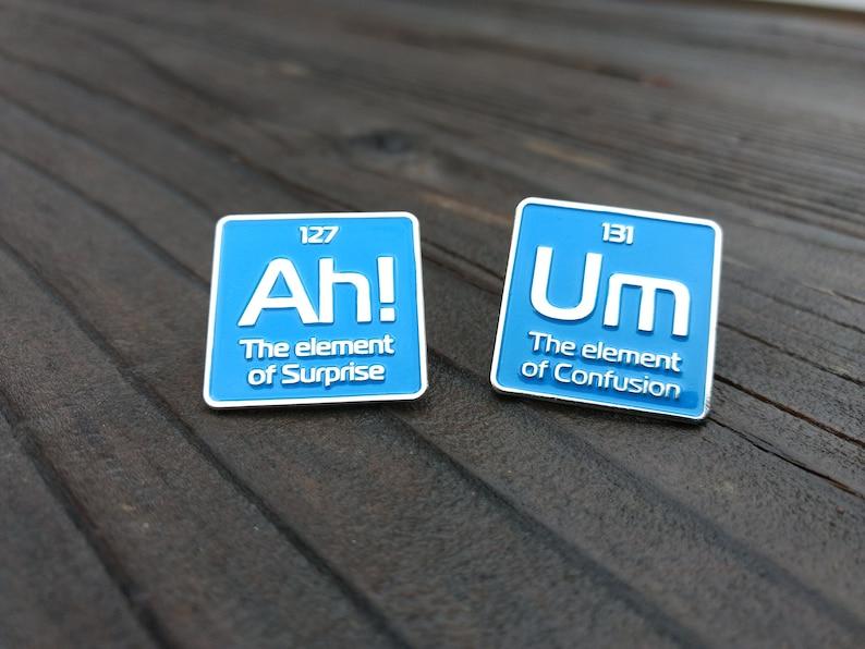 1b93a4c4ef06 enamel pin - Science enamel pins - periodic element pin - funny pins - pin  set - science pin -science pins - lapel pin - lapel pins