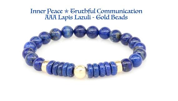 8 mm naturel magnifique lapis lazuli Healing Crystal stretch perles Bracelet Unisexe