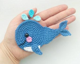 Pattern sea creatures applique crochet patterns pdf otter etsy