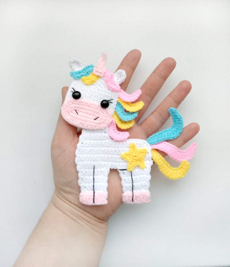 PATTERN Unicorn Applique Crochet Pattern PDF Instant Download image 0