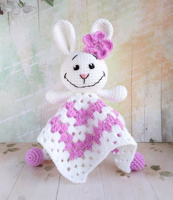 PATTERN Crochet Security Blanket Crochet Lovey Pattern Cow Amigurumi Crochet Pattern PDF file pattern Cow Toy Snuggle Toy Baby Blanket ENG.