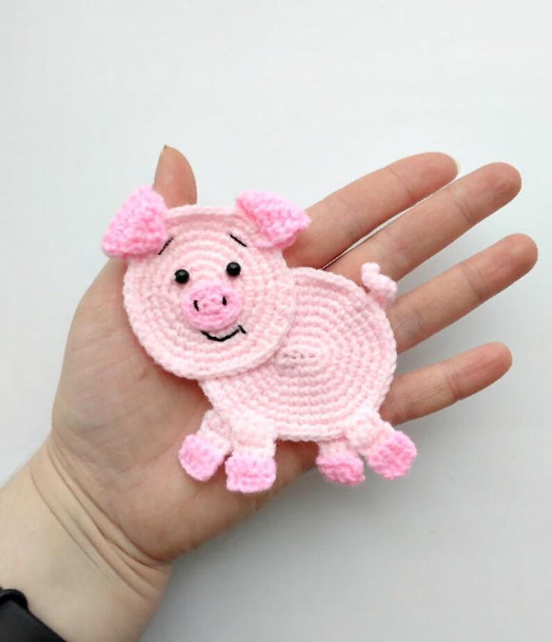 a342a79e0e47f4 PATTERN Pig Applique Crochet Pattern PDF Farm Animal Pattern