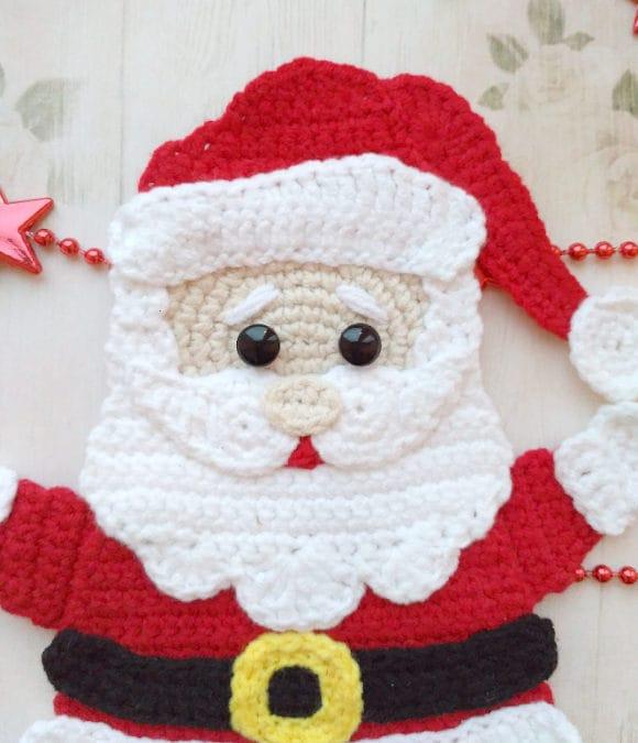 PATTERN Santa Claus Applique Crochet Pattern PDF Christmas | Etsy